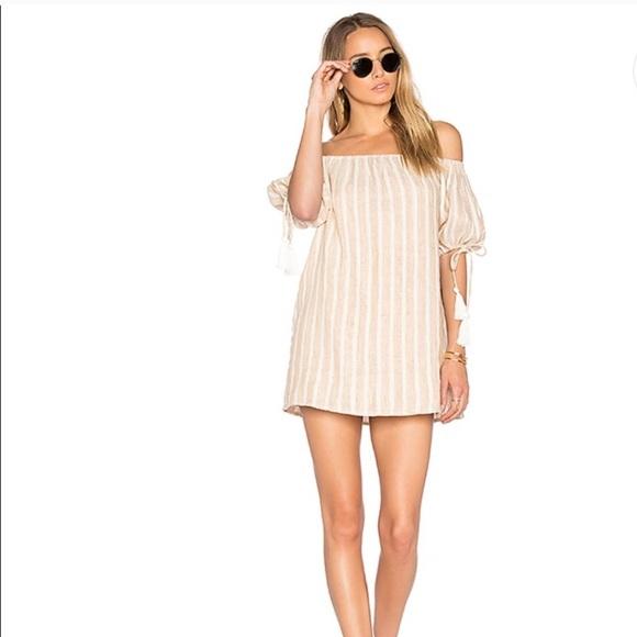 X-revolve Tularosa Kia striped linen dress
